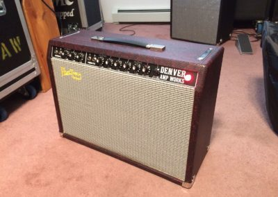 Blackface Deluxe Reverb Style - 2018 Red Snake Skin/silver grill